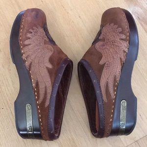 🍀 Lucky Brand Leather Fable Clogs | EUC 🍀